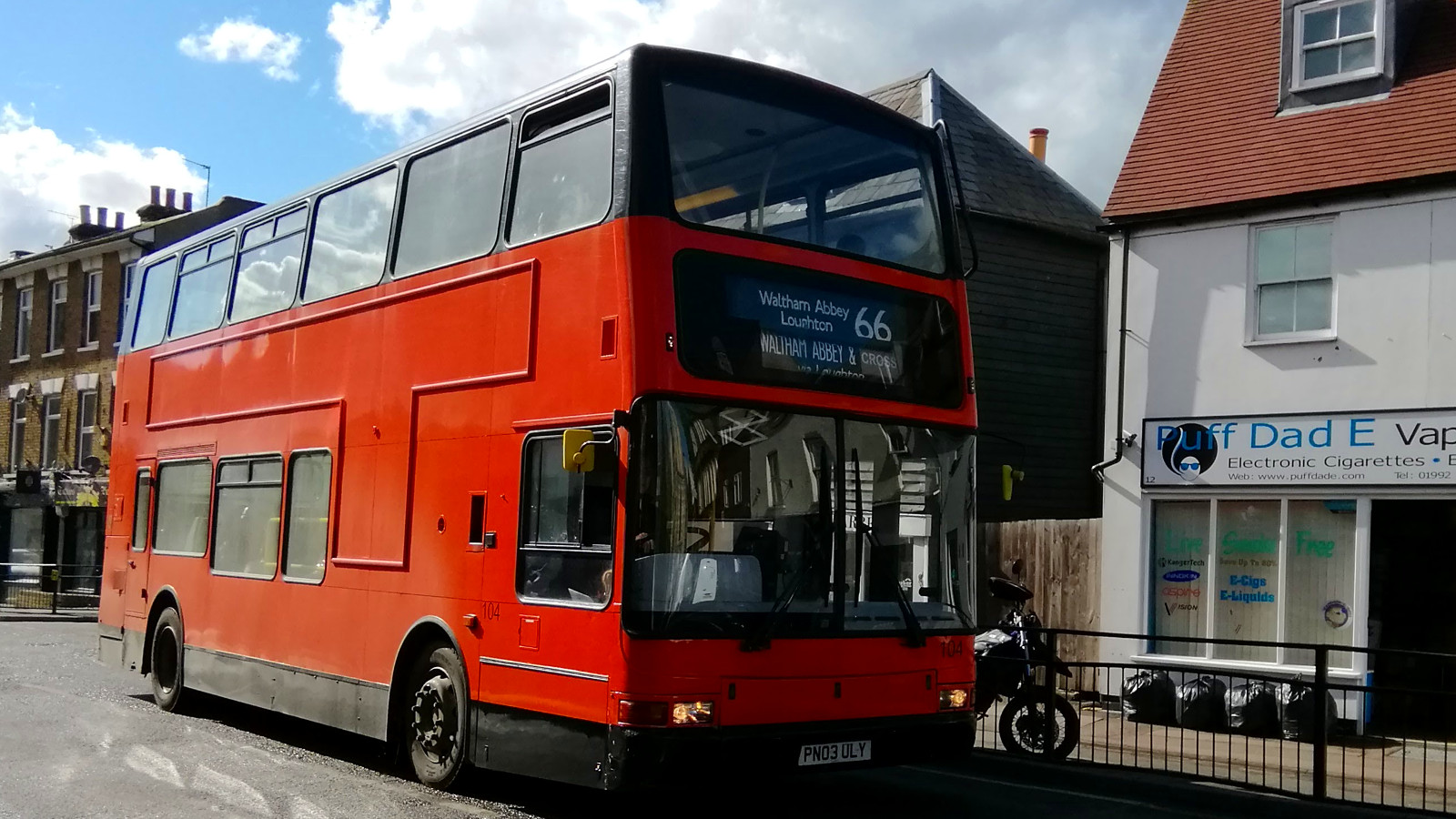 66 bus on Highbridge Street